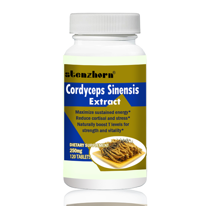 Cordyceps Sinensis    Extract Mushroom Extract  250mg120PCS Can Help The Body Fight Against Free Radical Damage.