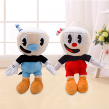 2 Style Cuphead Plush Toys Hot Video Game Mugman Cartoon Soft Stuffed Dolls For Kids Birthday Gifts 22cm