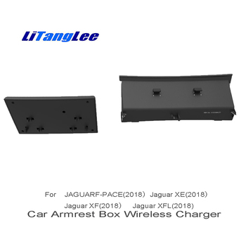 LiTangLee Wireless Charger for Jaguar F PACE X76 2016 2017 2018 Car Sundries Box Car Quick Charge Fast Mobile Phone