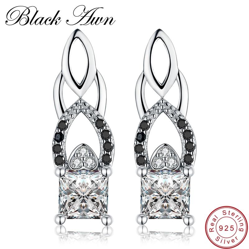 [عون أسود] حقيقي 925 الفضة الاسترليني - مجوهرات راقية