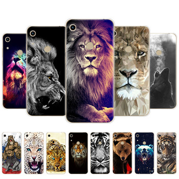 For Honor 8A Case For huawei honor 8A prime Case Silicone Back Cover Phone Case On Honor 8A wolf tiger lion Leopard bear animal фото