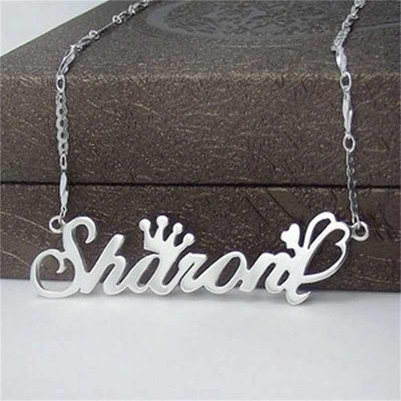 Fashion 925 Sterling Silver Name Necklace Letter Necklaces & Pendants Custom Jewelry Personalized Initial Necklace Birthday Gift