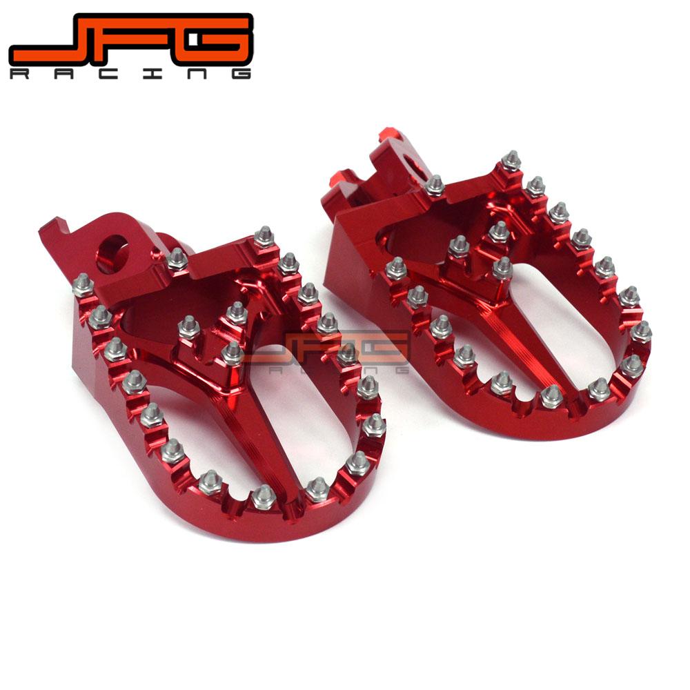 Prix pour Billet CNC MX Larges Repose-pieds Pédales Repose Pour HONDA CR125 CR250 CRF250 CRF450 CRF450X CRF450R CRF250R CRF250X CRF250L CRF250M