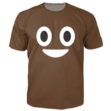 New Arrive Poop Emoji T-Shirt Cute Turd Characters 3d Printed T Shirt Fashion Clothing Tops Summer Style Tee For Women Men R2887