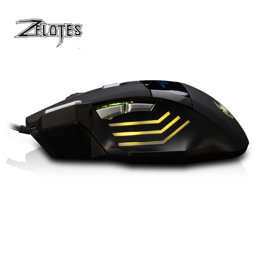 Image 5 - ZELOTES T 80 7200 DPI Backlight Multi Color LED Optical 7 Button Mouse Gamer USB Wired Gaming Mouse for Pro Gamer-in Mice from Computer & Office