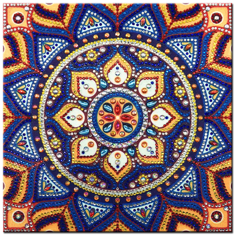 RUBOS DIY 5D Diamond Embroidery Mandala Sun Triptych Diamond Painting Multi Picture Rhinestones Pearl Big Mosaic Sale Wall Decor (54)