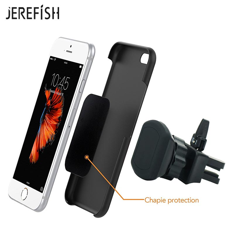JEREFISH Universal Air Vent Magnetic Car Mount Holder Outlet Support Magnet Mobile Cell Car Phone Holder Stand For IPhone
