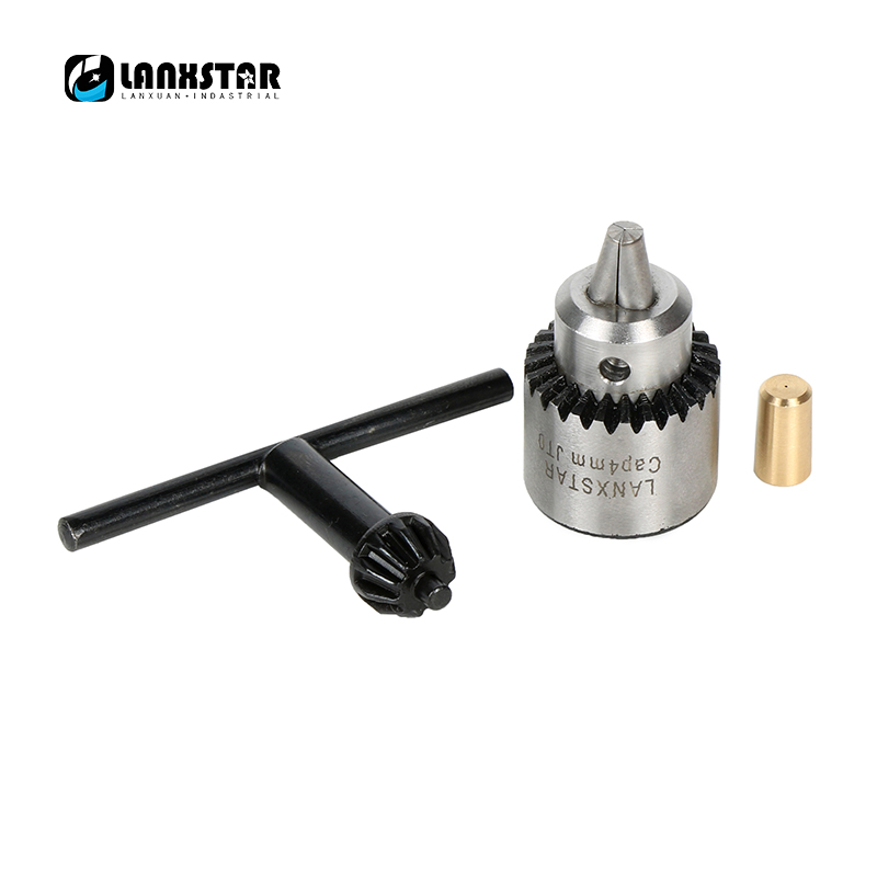 Professional Hand Drill Chuck Cap 0 3 4mm JTO Mount Machine Tools With Brass Shaft Rod
