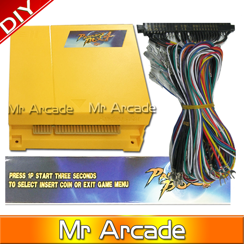 Free shipping Pandora box 4 VGA / CGA output for LCD / CRT 645 in 1 game bundle video-arcade boards accesorios wires/Jamma 28pin sanwa button and joystick use in video game console with multi games 520 in 1