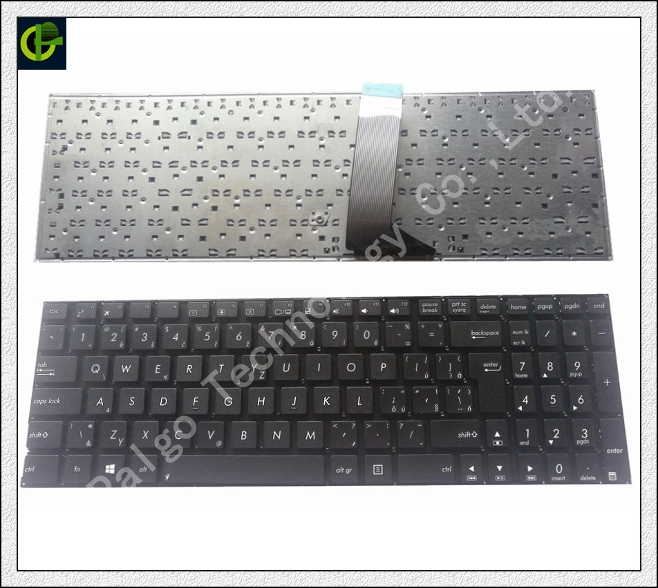 Czech Keyboard for ASUS X555 X555L X555LA X555LD X555LN X555LP X555LB X555LF X555LI X555U WITH SHORT CABLE CZ fit Slovakia SK original interface for asus x555ld a555l x555lj x555lb x555lp x555ln x556u interface on hdd board and on motherboard