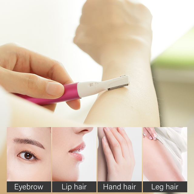 Pritech Mini Portable Electric Eyebrow Trimmer  Hair Removal  Women Body Hair Shaver Remover Blade Razor Epilator Makeup Sets 3