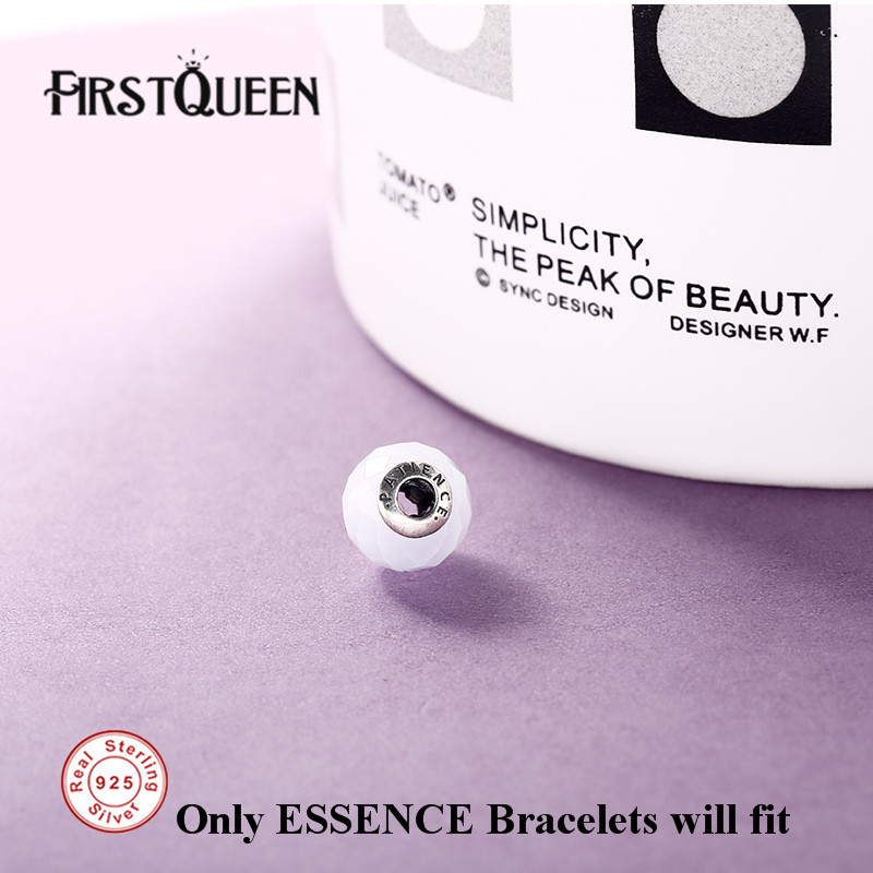 FirstQueen Pure Silver 925 Essence Patience Bead Fit Brand Charms Silver 925 Original Essence For Jewery Making Fine Jewelry
