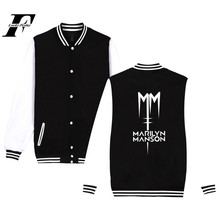 Industrial Metal Music Band Marilyn Manson baseball jacket hoodies men Rock streetwear Marilyn Manson Jacket 4XL plus size