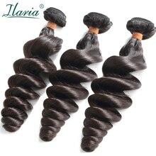 """ILARIA волос 8A норки бразильский 3 пучки волос Девы 1""""-30"""" свободные волна может быть беленой 613 Сырье человеческих пучки волос плетение"""