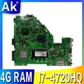 Akemy X550JK материнская плата для ноутбука For Asus X550JX X550JF X550JD X550JK X550J материнская плата 4G-RAM I7-4720HQ/4710HQ GTX850M/4 Гб RAM