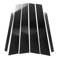 Carbon Fiber Car Window B Pillars Trim Stickers for BMW 5 Series F10 2011 2017