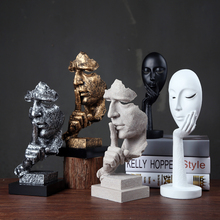 Creative Collections Silence Is Gold Abstract Sculpture Craft Decoration Retro Office Living Room Artwork Gift Presentation