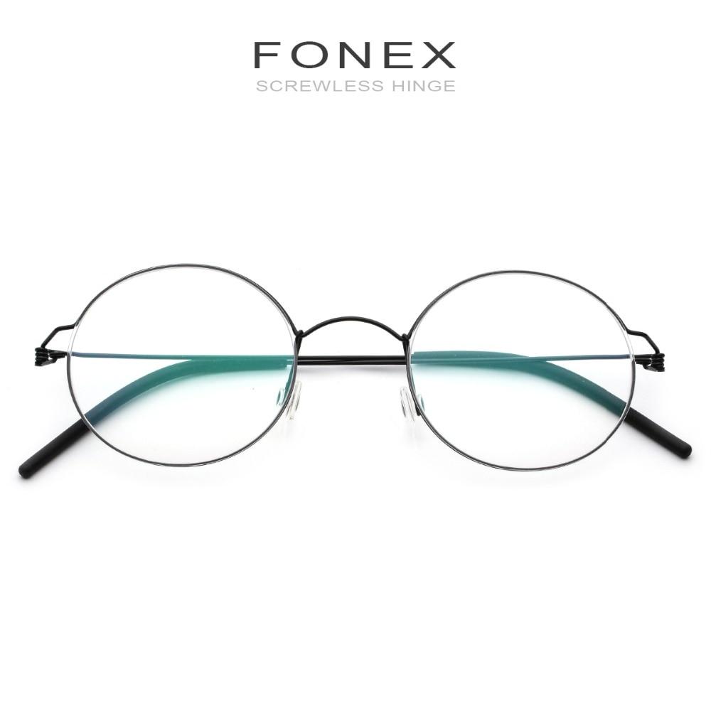 Clearance SaleFONEX Eyeglasses Frame Screwless Eyewear Optical Titanium-Alloy Prescription Korean Vintage