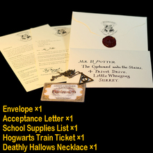 Harry Potter envelope Hogwarts acceptance Letter necklace Express ticket Collectibles