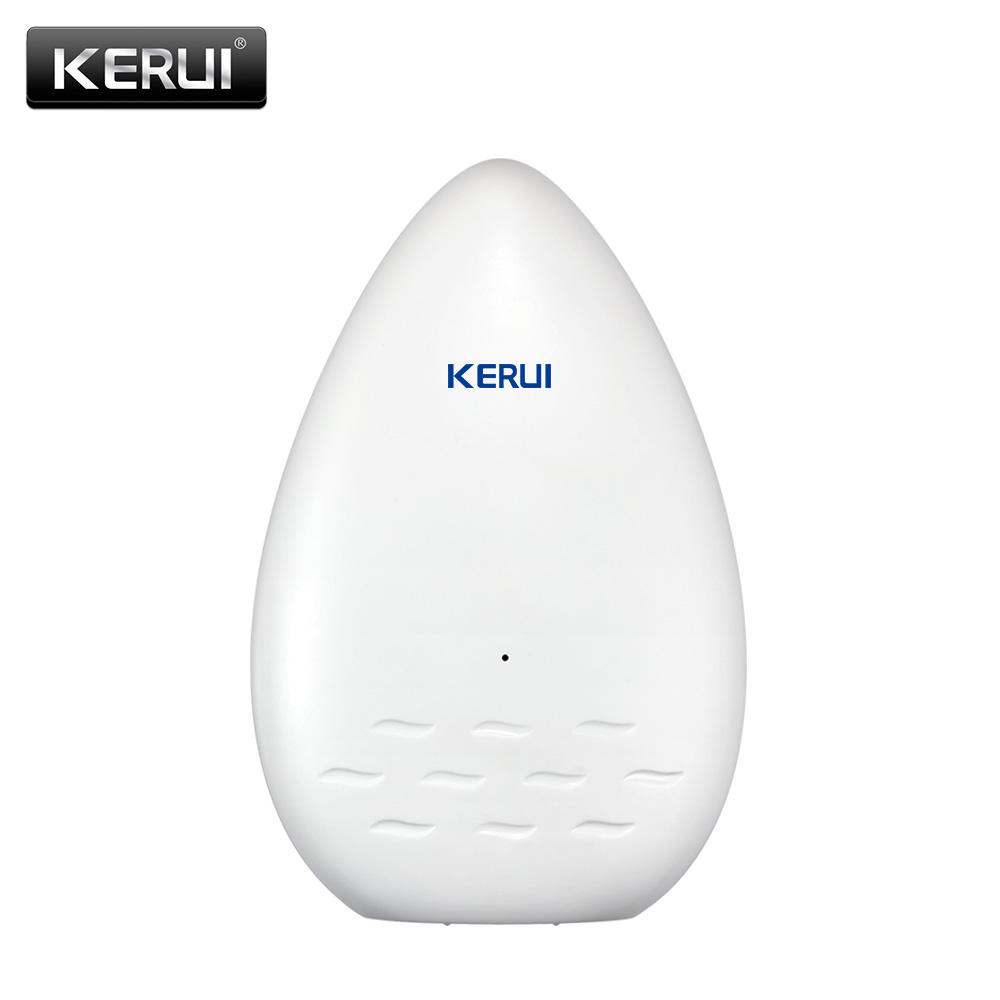 KERUI New WD51 Wireless 433MHZ Water leak Detector Water leakage sensor alarm for G18 W18 W2 G19 Home Security Alarm System wireless water intrusion leakage sensor detector water leak alarm 433mhz for our home alarm system