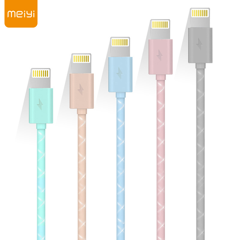 MEIYI M14 1 M/2 M USB Cable for iPhone 8 7 6 6 s Plus 5s se Perfect Fit for Lightning