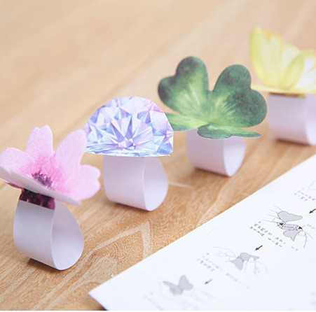 30Pcs/Pack Lucky Flower Ring Sticky Post It N Times Memo Pad Notebook Student Sticky School Label Gift M0142