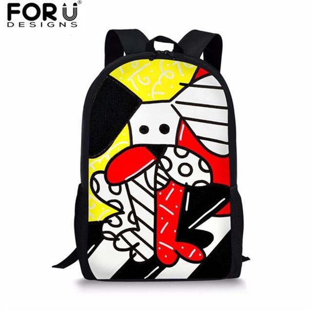 6e404c5821db FORUDESIGNS Graffiti Design School Bag for Teenager Boys Girls Daily Bookbag  Backpacks Kids Big Capacity Travel Shoulder Daypack