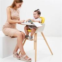 Портативный детский стульчик Fauteuil Enfant безопасности Детский стульчик для кормления Регулируемый дерева, обеденный стул детский столик