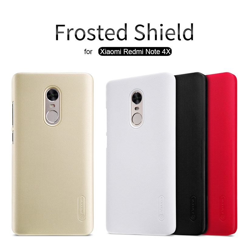Pour Xiaomi Redmi Note 4X Nillkin Super Givré Bouclier Dur Retour Housse pour Redmi Note 4X5.5 téléphone Cas + Protecteur D'écran