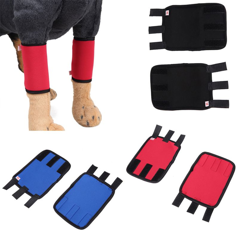One Pair Canine Dog Hock Brace Leg Joint Wrap Protects Wounds Compression Wrap Helps Arthritis Stability Brace Bandage