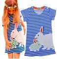 Summer Girls Kids Clothes Dress Striped Animal Kids Girl Clothes Dress Summer Navy Striped Kids Clothes Dress For Girl Dresses