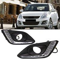 Fog Cover LED Daytime Running Lights Car LED DRL Driving for Suzuki Swift 2013 up