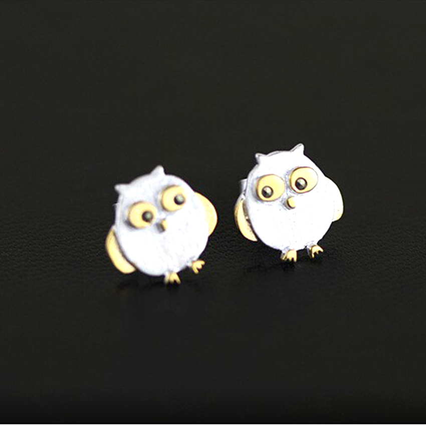 Daisies 1pair Pure 925 Sterling Silver Mini Owl Stud Earrings For Women Hypoallergenic Statement Jewelry Gifts S In From