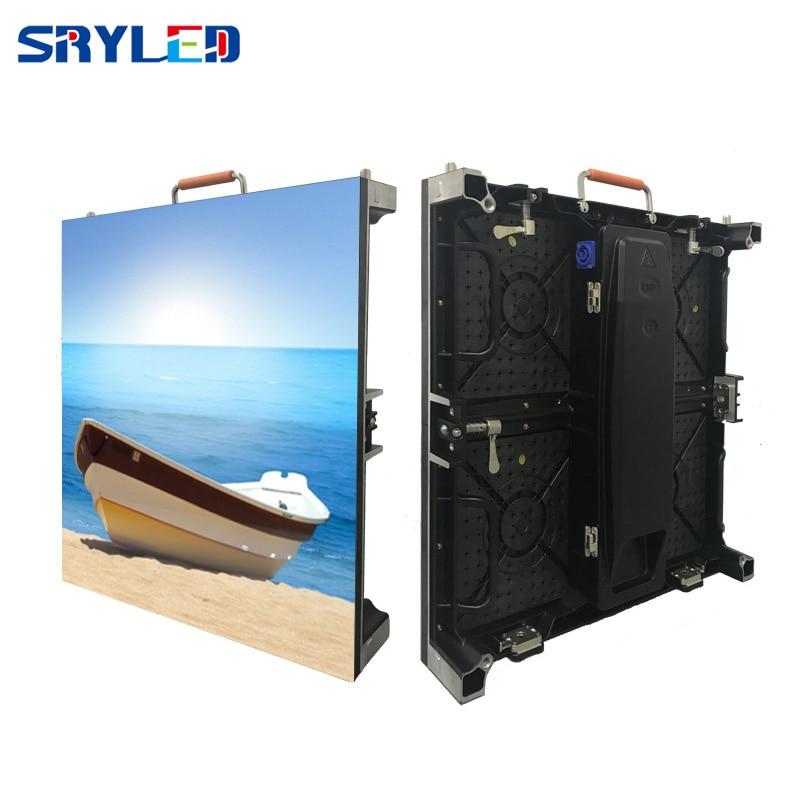 7KG/pcs RentalP2.6 P2.976 P3.91 P4.81 Indoor LED Screen Price With Die Cast Alumium Cabinets Led Panel 500x500mm