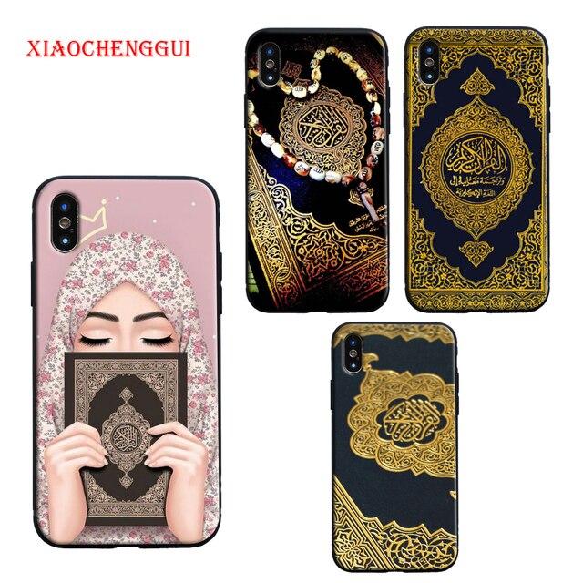 Corano in arabo islamico citazioni musulmano Nuovo telefono cellulare Di Lusso della cassa Molle Del Silicone per il iPhone 8 7 6 6S Plus X XR XS MAX 11 12 pro max Copertura