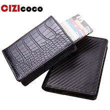 Cizicoco New Credit Card Holder Wallet Aluminium Men Women Metal for Cards Business Package RFID Protector