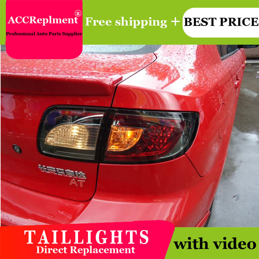 US $367 36 6% OFF 4PCS Car Styling for Mazda 3 Taillights 2006 2012 for  Mazda 3 LED Tail Lamp+Turn Signal+Brake+Reverse LED light-in Car Light
