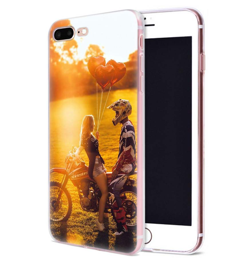 Motocross Moto Cross Dirtbikes Case for iphone 7 7S 8 Plus XS XR XS Max X 7 8 5 5SE 5C 6 6S Silicone Fundas Capa Phone Cover in Fitted Cases from Cellphones Telecommunications