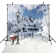 Natal casa de Inverno de Neve Pano De Fundo Para A Fotografia Fundo Cenários de Fotografia Para Estúdio de Fotografia Foto Achtergrond Snowflak