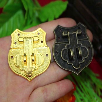 Wholesale Heart Buckle Hasp Hasp Wooden Wine Box With Lock Buckle Antique Padlock Hardware,Zinc Alloy,43*40mm,100Sets