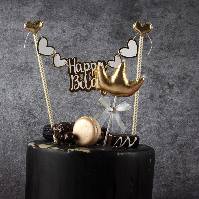 Miraculous Happy Bday Cake Bunting Topper Gold Black Silver Cake Garland Baby Personalised Birthday Cards Epsylily Jamesorg