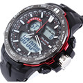 2016 Новый ALIKE G Стиль Часы Мужчины Люксовый Бренд мужская Кварцевые Часы LED Аналого-Цифровой Спортивные часы человек Военный Наручные Часы