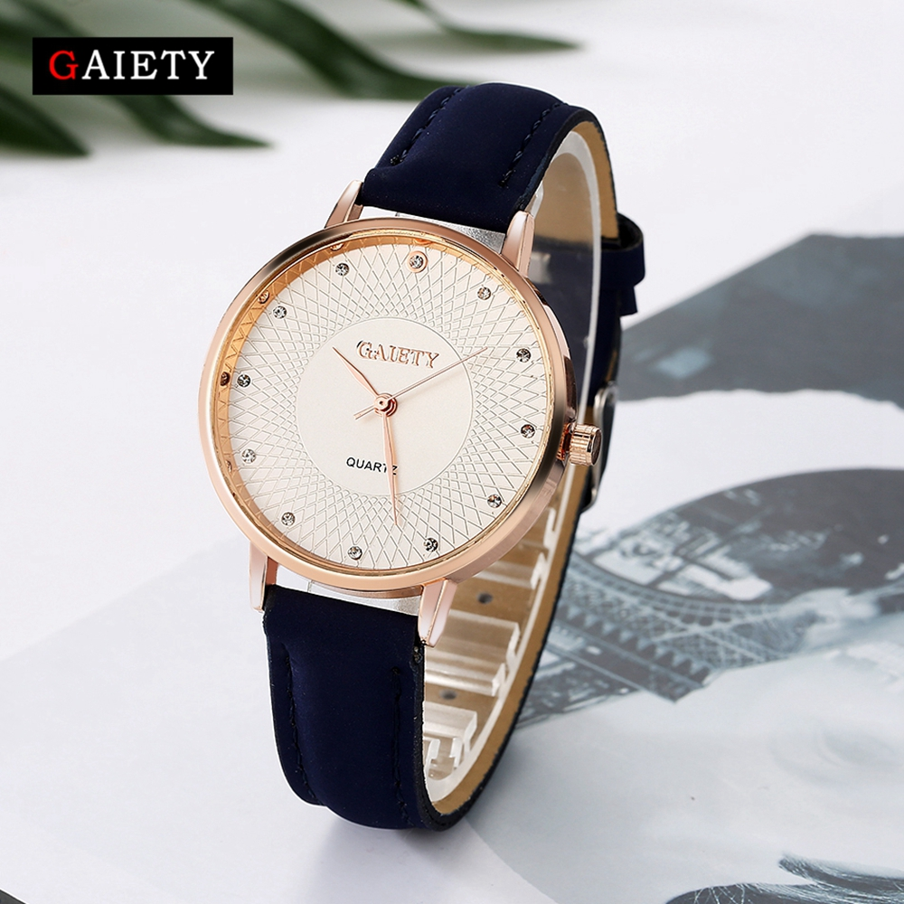 Fashion New Rose Gold Women Watches Luxury Bracelet Dress Watch Leather High Quality Ladies Quartz Watch Woman Wristwatch G116 sinobi high quality watches mens leather quartz watch luxury brands males rose gold steel casual wristwatch gents clock hours