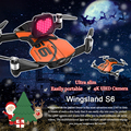Wingsland s6 rc drone bolsillo selfie cámara fpv quadcopter drone wifi fpv con 4 k uhd envío gratis