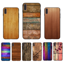 IMIDO texture wood  Silicone Phone Case Coque Cover For Iphone 7 8 7PLUS 8PLUS X XS XR XSMAX 5 5S SE 6 6S 6PLUS 6SPLUS