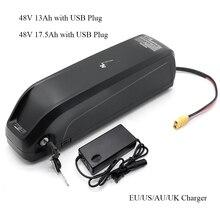 Hailong Lý Lượng Oin Pin Với USB 48V13Ah 48V 17AH Xe Đạp Điện Downtube Pin Sạc 250W 500W 750W 800W 1000W
