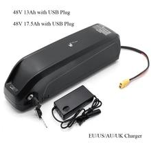 Hailong リチウム oin バッテリー usb 48V13Ah 48V 17AH 電動自転車ディレイラーケーブルのダウンチューブバッテリー充電器 250 ワット 500 ワット 750 ワット 800 ワット 1000 ワットモーター