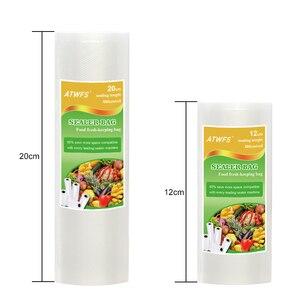 Image 4 - Пищевой вакуумный упаковщик ATWFS, упаковочная машина, в комплекте 15 пакетов и рулоны для вакуумной упаковки, 20 Х500 см + 12 Х500 см