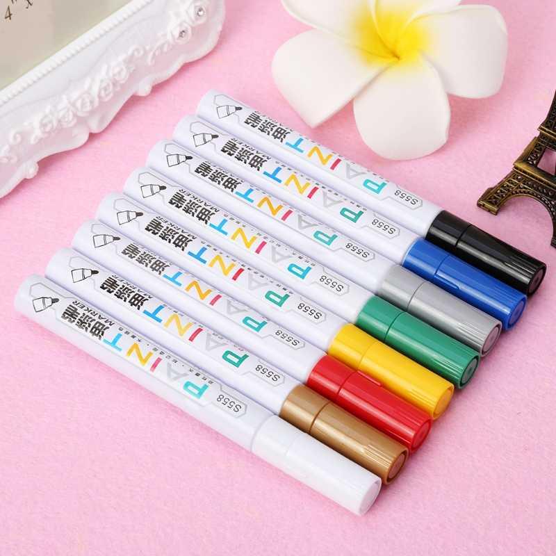 1 шт. Высокое качество маркер водонепроницаемый маркер с перманентной краской ручка шина Металл наружная маркировка масляные чернила ручки