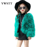 Autumn/winter 2017 New Fur Coat Ostrich Hair Fire Feather Girls Princess Baby Fur Western Style Children Imitated Fur Short Coat